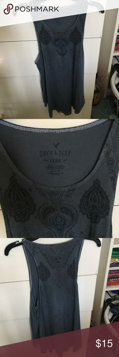 American Eagle tank top American Eagle soft and sexy tank top. Blue with paisley designs. Brand new with tags American Eagle Outfitters Tops Tank Tops