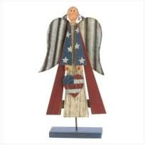 PATRIOTIC ANTIQUE ANGEL - FREE SHIPPING
