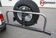 JcrOffroad, Inc. Jeep Cherokee XJ Rear Tire Carrier Bumper - Deluxe