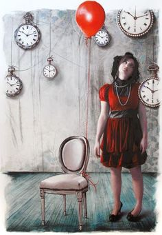 Strade di Carta n.6 by Elisa Anfuso Red And Grey, Black And White, Retro Art, White Art, Art Google, Kai, Short Sleeve Dresses, Portraits, Acrylics