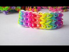 Como Hacer Pulsera de Gomitas en Triple: How to make the rainbow loom:Triple singe - YouTube
