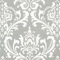 Light Gray & White Damask Home Decorating Fabric- $8.99/yard