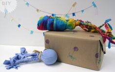 Happy 4th Barkday Morgs!! - Home made dog toys for your little fuzzy four leggers