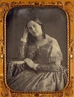 Julia Dean. (1847) Daguerreotype by Thomas Easterly. ©Missouri History Museum