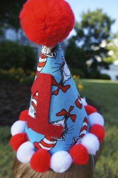 Dr. Seuss 1st birthday party hat