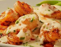 Shrimp w/creamy lemon butter sauce