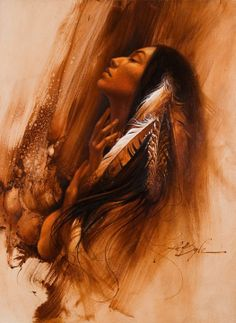 Lee ogle Tutt Art Lee Bogle combines vivid, realistic detail with expressive qualities of abstraction in the Oriental tradition. For biographical notes and other works by Bogle, see Lee Bogle, 1946 Native American Girls, Native American Pictures, Native American Beauty, American Indian Art, American Indians, American Symbols, American History, Native American Paintings, Native American Artists