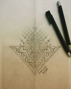 Desen Tasarım🤩Tezhip❤️hobi😊 (@sunrabiasun) • Fotos y videos de Instagram Islamic Art Pattern, Pattern Art, Islamic Art Calligraphy, Caligraphy, Islamic Tiles, Compass Tattoo, Embroidery Designs, Mandala, Sketches