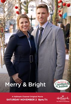 """Join us for """"Merry & Bright"""" starring Jodie Sweetin and Andrew Walker, part of our anniversary of Countdown to Christmas! Best Christmas Movies, Hallmark Christmas Movies, Hallmark Movies, Holiday Movies, Great Movies, New Movies, I Movie, Movie List, 2020 Movies"""