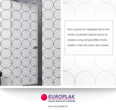 Hidden wallpaper allows you to add dimension to your walls & reflects trends in modern wallcoverings that can be used in interior schemes to bring elements For more details Visit : http://www.europlak.in/ #EuroplakIndia #ModularKitchen #ModularKitchenDesigns