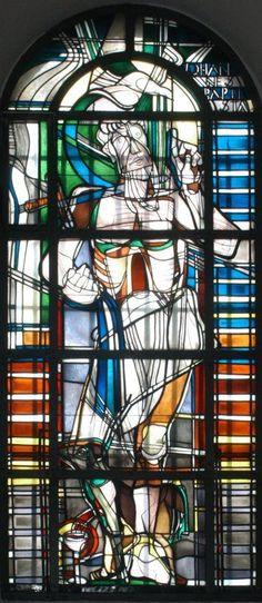 "Georg Meistermann (1911-1990), ""Heiliger Johannes der Täufer"",  Kirche Alt St. Ulrich, Ulrichstraße 110, 50226 Frechen"
