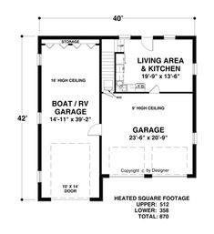 Lower Level Floorplan image of Boat-RV Garage                                                                                                                                                     More