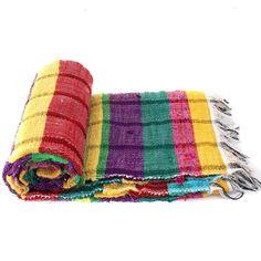 Handloomed Rag Rug Yoga Mat Handmade Saree Chindi Carpet Rectangular Durrie Y790 #JodhpurRugs #RagRug