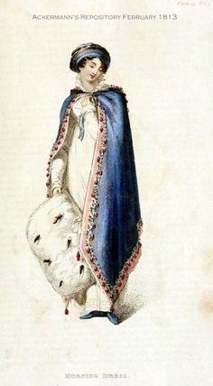 5768c202000d Fashions for February 1813, via 2 Nerdy History Girls. Opera Dress February  1813 Historisk