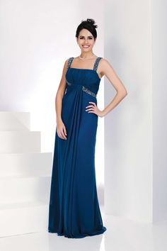 abito blu oltremare stile impero