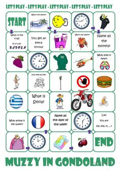 Muzzy in Gondoland Board Game worksheet - Free ESL printable worksheets made by teachers