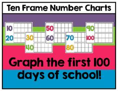 Ten frame number charts to display on bulletin boards for calendar time or math time. Use them to count to 100 by adding stickers, stamps or…