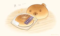 Cute Food Drawings, Cute Kawaii Drawings, Cartoon Drawings, Cartoon Art, Kawaii Chibi, Cute Chibi, Kawaii Art, Dog Bread, Chibi Eyes