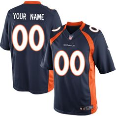 mens nike denver broncos customized limited navy blue alternate nfl jersey on sale