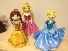 Aurora, Belle and Cinderella