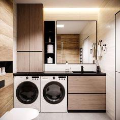 Laundry Room Design, Home Room Design, Dream Home Design, Modern Bathroom Design, Bathroom Interior Design, Washroom Design, Laundry Room Storage, Modern Laundry Rooms, Laundry Room Layouts