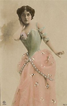 A 100 year old hand tinted photo post card