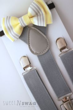 Shop for newborn on Etsy, the place to express your creativity through the buying and selling of handmade and vintage goods. Grey Yellow, Grey And White, Toddler Moccasins, Bowtie And Suspenders, Bridal Party Dresses, Kids Fashion Boy, Dark Jeans, White Denim, Toddler Dress