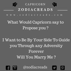 #what would Capricorn say to Propose you ? #zodiacreads #zodiac #aquarius #pisces #libra #leo #Gemini #aries #scorpio #virgo #sagittarius #capricorn #taurus #cancer follow @zodiacreads www.zodiacreads.com #zodiacsigns #zodiacsigncompatibility #zodiaccalendar #astrologyzone #astrologysigns