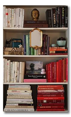 Bookshelf Styling looks