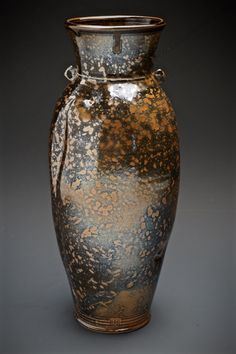 """Tom Coleman, """"Shino Spotted Pig Vase"""", thrown and altered porcelain — Sherrie Gallerie"""