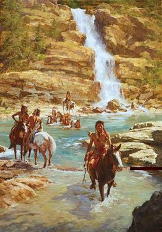 """Masterworks Edition on Canvas Size: 32"""" x 46"""" Edition Size: 300 A word from Howard Terpning. """"Horse stealing was a sport among the Plains Indians and an important way to gain honor and prestige among"""