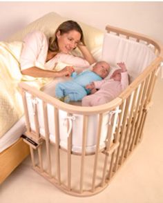 Babybay Maxi Bedside Cot is the perfect side sleeping solution for twins, larger babies and little ones who just need more sleeping space.