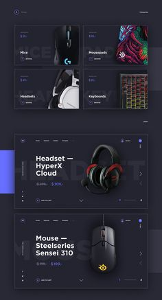 Task was simple for me: create modern and gaming feeling look of homepage Gaming-Gear WebShop. Mix of dark blue and purple, clear non-serif fonts let me achieved this I hope.It is a concept project. All images used in the presentation and design belong …