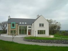 Eamonn and Margaret Two Story House Design, 2 Storey House Design, Eco Homes, Modern Homes, House Building, Green Building, House Designs Ireland, Bungalow Conversion, House Outside Design