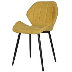 Moderner Stuhl FEDDE Esszimmerstuhl Küchenstuhl Polsterstuhl Lehnstuhl senf
