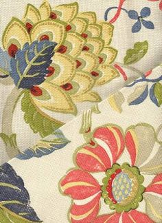 Sea Breeze Patriot from P. Kaufman for living room curtains