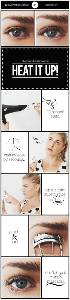 Beauty Hacks for Teens - Heat Up Your Lash Curler - DIY Makeup Tips and Hacks for Skin, Hairstyles, Acne, Bras and Everything in Between - Pictures and Video Tutorials for Girls of All Shapes and Size (Beauty Hairstyles For Teens) All Things Beauty, Beauty Make Up, Beauty Care, Diy Beauty, Beauty Hacks, The Beauty Department, Belleza Diy, Tips Belleza, Beauty