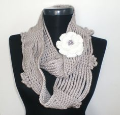 STONE Scarf Long Scarf  Crochet Cowl Scarf  Hand made by CROCHETTT, $32.00 #teamdream #handmadebot