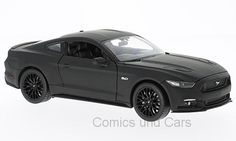 Ford Mustang GT 2015 matt-schwarz 1:24 Welly