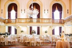 Omni William Penn wedding reception... Planner: Soiree by Souleret   Photo: @caitlintphoto