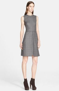 Akris Check Wool Blend Tweed Dress available at #Nordstrom