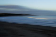Tranquil Blue (2016).  An impression captured 'in camera', the beach and ocean.  Bancoora Beach, Breamlea Victoria Australia.  Image: © Gary Light. Creative Commons: (CC BY-NC-ND 4.0).  #photography #landscape #victoria #australia #nature #beach #ICM   #Impressionism