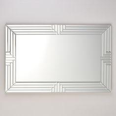 Bevelled Four Step Glass Mirror Art Deco Bathroom, Art Deco Mirror, Hall Mirrors, Dressing Table Mirror, Modern Art Deco, Beveled Mirror, Art Deco Design, House Design, Glass