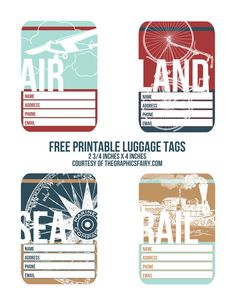 Printable Luggage Tags  //  The Graphics Fairy