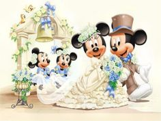 Mickey and Minnie Mouse Wedding. Cross by ExclusiveXPatterns Mickey And Minnie Wedding, Mickey And Minnie Love, Mickey Mouse And Friends, Mickey Minnie Mouse, Minnie Mouse Pictures, Disney Pictures, Disney Pics, Disney Quotes, Pictures Images