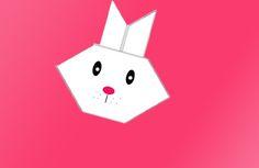 Coelhinho de origami, uma ideia simples para as crianças fazerem na Pascoa