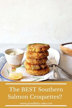 These delicious Southern Salmon Croquettes are a quick and easy soul food classic done right! Nice and tender on the inside full of salmon flavor and aromatics, yet crunchy and delicious on the exterior from an irresistible cornmeal breading, you will make these time and time again. #salmon #fish #croquettes #southern