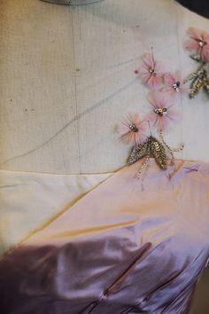 Oskar de la Renta, a dress in progress...love the embroidery, applique.