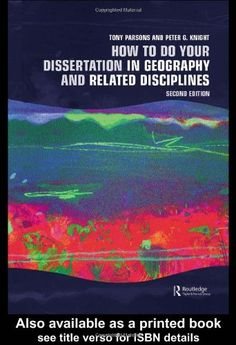How To Do Your Dissertation in Geography and Related Disciplines by Tony Parsons http://www.amazon.co.uk/dp/0415341558/ref=cm_sw_r_pi_dp_fMqsub1DKBYQH