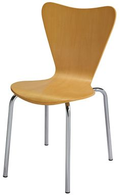 3800 Series Bentwood Stacking Armless Cafe Chair With Chrome Frame    Natural U003cspan Classu003d